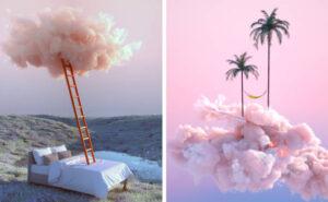 Paradisi e mondi surreali nelle immagini di un designer
