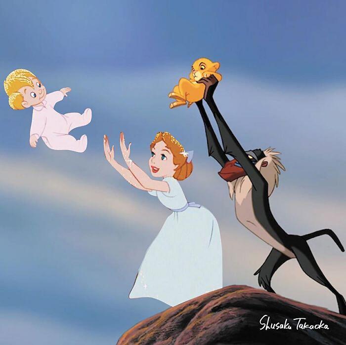 Fotomontaggi digitali personaggi Disney Shusaku Takaoka