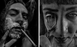 Incredibili ritratti fotorealistici con polvere di carbone