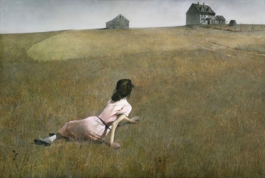 Storie interessanti dipinti famosi - Il mondo di Cristina (Christina's World), Andrew Wyeth