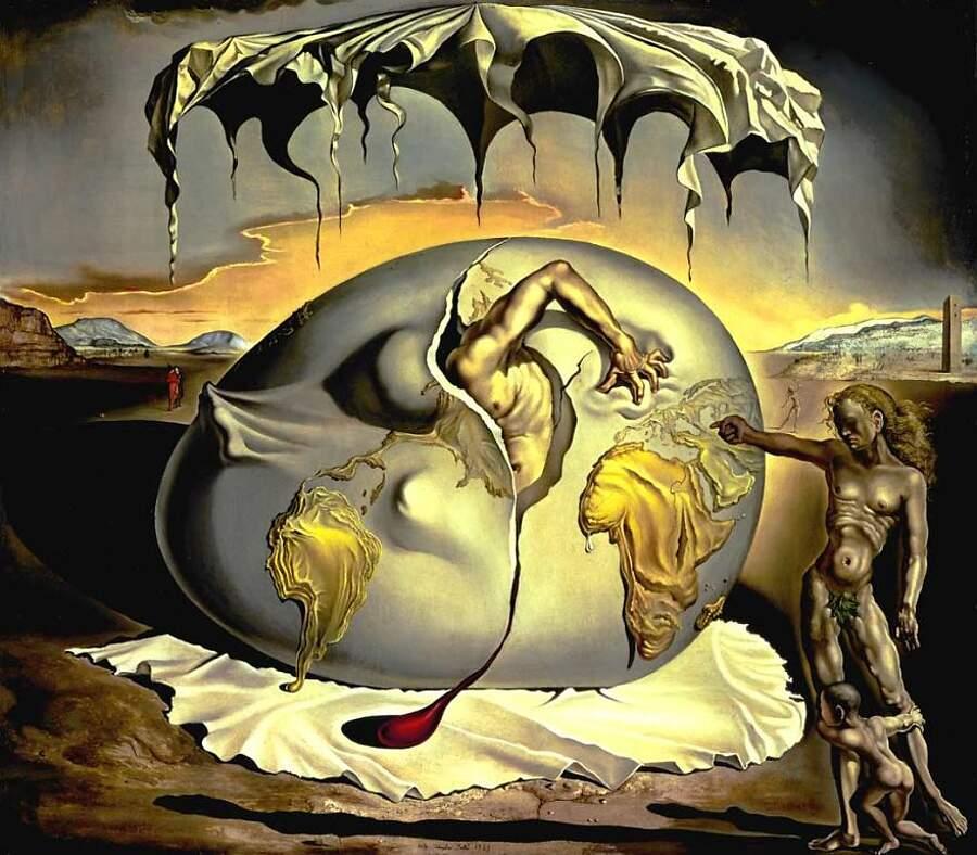Storie interessanti dipinti famosi - Bambino geopolitico osservante la nascita di un uomo nuovo, Salvador Dalí