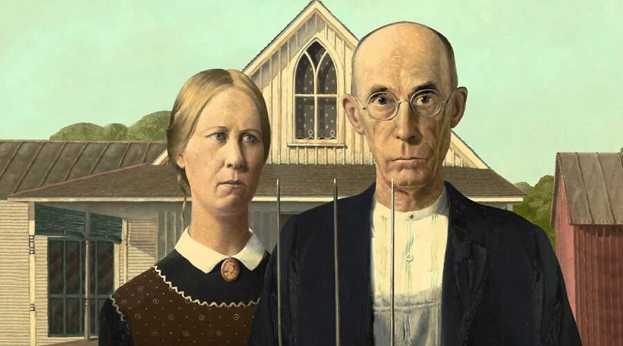 Storie interessanti dipinti famosi - American Gothic, Grant Wood
