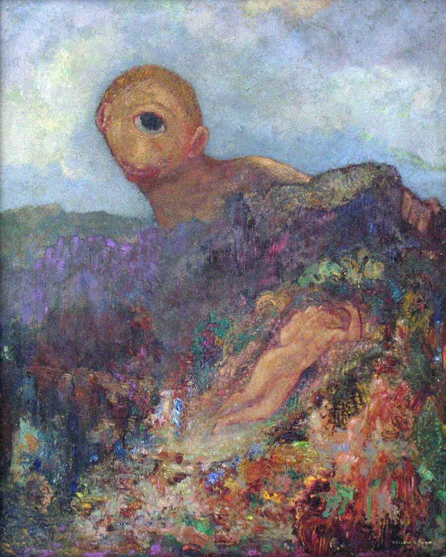 Storie interessanti dipinti famosi - Il ciclope, Odilon Redon
