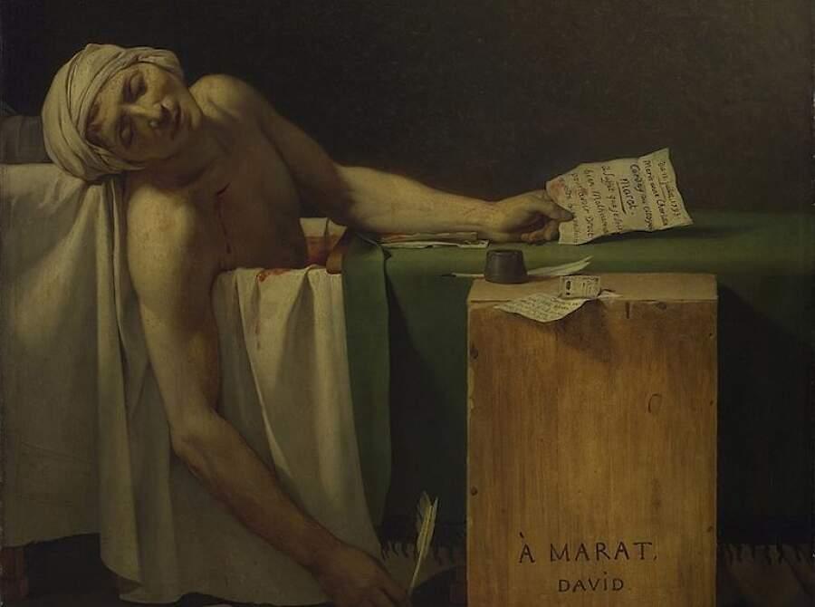 Storie interessanti dipinti famosi - La morte di Marat, Jacques-Louis David