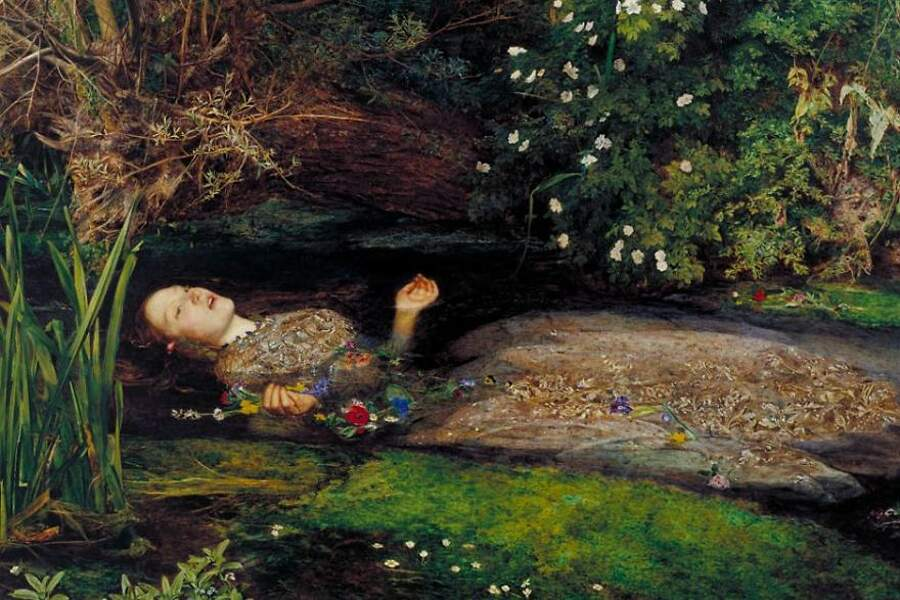 Storie interessanti dipinti famosi - Ophelia, John Everett Millais