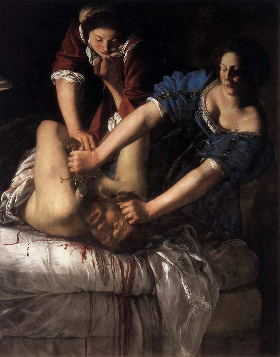 Storie interessanti dipinti famosi - Giuditta che decapita Oloferne, Artemisia Gentileschi