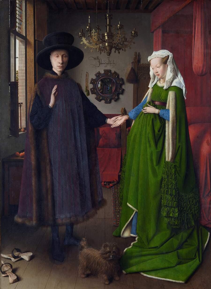 Storie interessanti dipinti famosi - Ritratto dei coniugi Arnolfini, Jan Van Eyck
