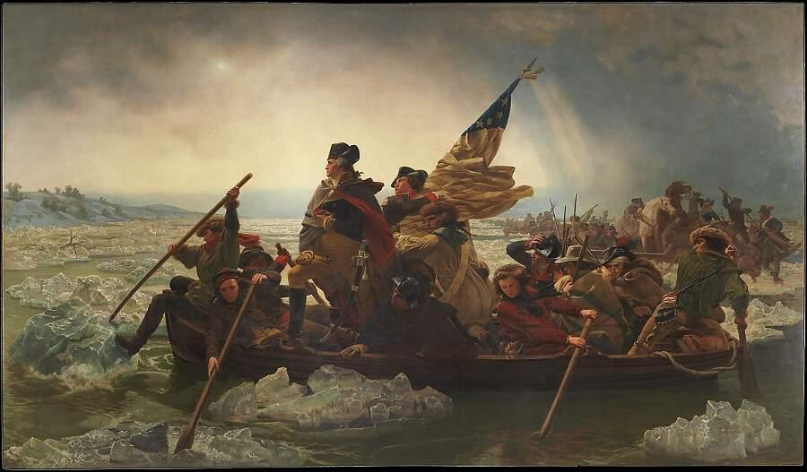 Storie interessanti dipinti famosi - Washington attraversa il fiume Delaware, Emanuel Leutze