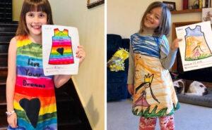 Questa azienda trasforma i disegni dei bambini in abiti colorati
