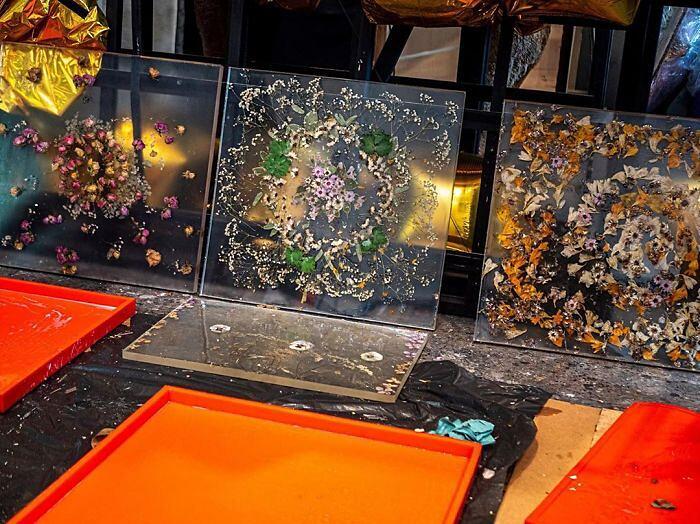 Fermata del tram diventa museo dei fiori Polonia Dominika Cebula