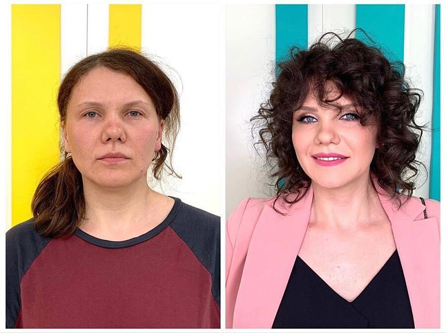 Foto prima e dopo cambio look Alexandr Rogov