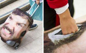 Una valigia con la foto gigante della tua faccia, bizzarra ma geniale