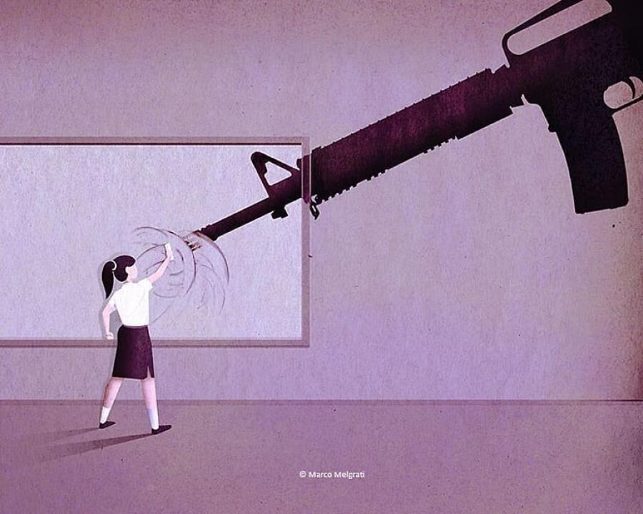 Illustrazioni criticano società moderna Marco Melgrati