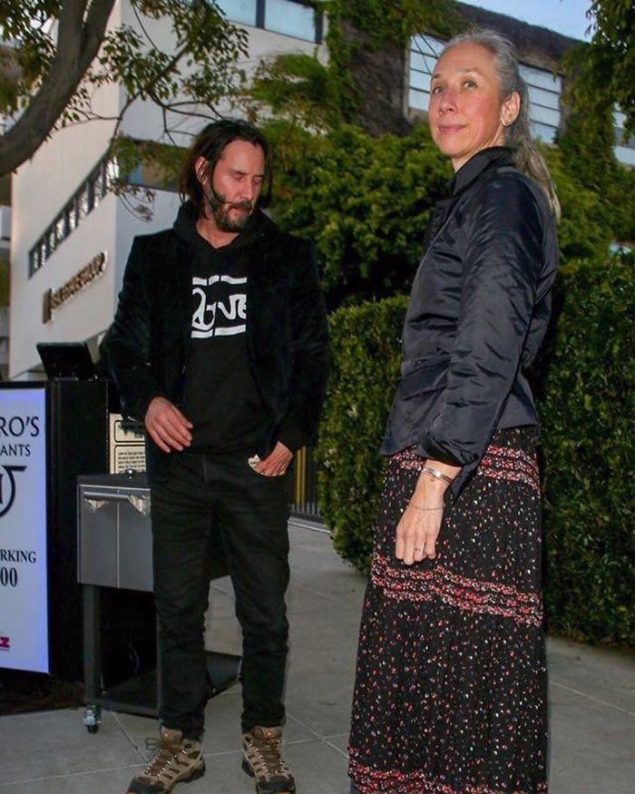 Keanu Reeves e la fidanzata Alexandra Grant