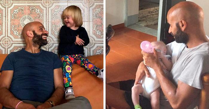 Papà single adotta una bambina con sindrome di Down, rifiutata da 20 famiglie