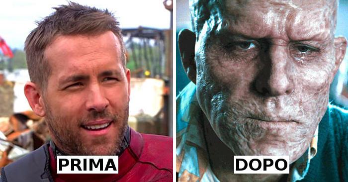 30 foto di attori di Hollywood prima e dopo il trucco cinematografico