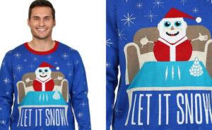 """Walmart chiede scusa per il maglione con Babbo Natale cocainomane e la scritta """"Lascia che nevichi"""""""