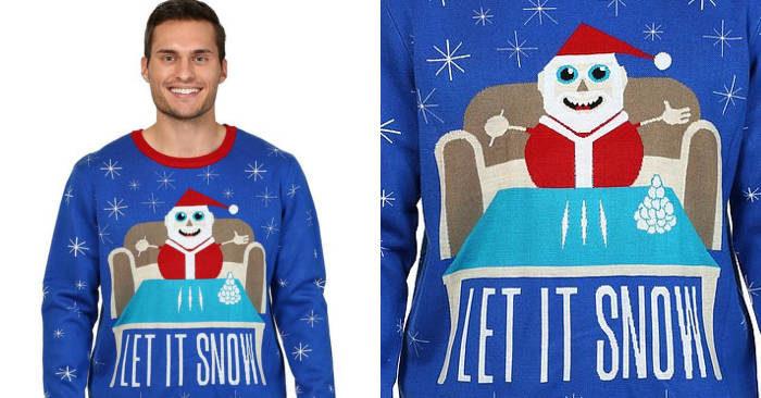 Walmart chiede scusa per il maglione con Babbo Natale cocainomane e la scritta