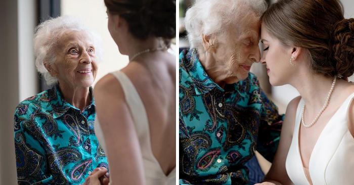 Esaudisce l'ultimo desiderio della nonna ammalata e va a trovarla in abito da sposa, mesi prima del matrimonio
