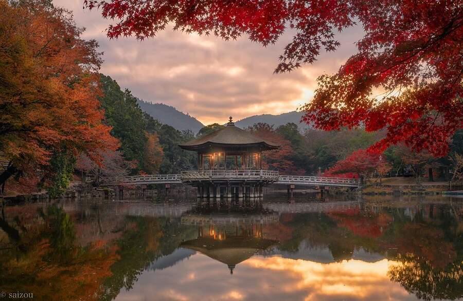 Foto autunno Giappone, Saizou