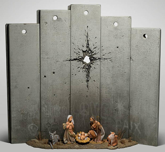 Banksy pronto per il Natale con un mini presepe a Betlemme