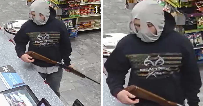 Fa una rapina con sulla testa mutande al posto del passamontagna e viene riconosciuto sui social