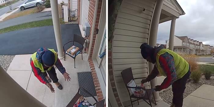 Cliente Amazon lascia spuntini fuori della porta per il ragazzo delle consegne e la reazione è unica