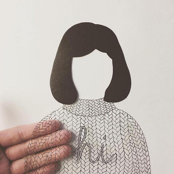 Illustrazioni di carta ritagliata Kanako Abe