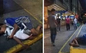 Bambino senzatetto dorme abbracciando il suo cane nell'indifferenza dei passanti, la foto è virale