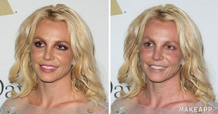 Usano un'applicazione per rimuovere il make-up alle celebrità