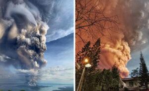 33 foto mostrano la terrificante eruzione di cenere del vulcano Taal nelle Filippine