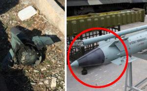 Foto di pezzi di missile accanto al relitto del Boeing 747 che ha ucciso 176 persone in Iran