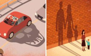 31 illustrazioni digitali mostrano i difetti della società moderna