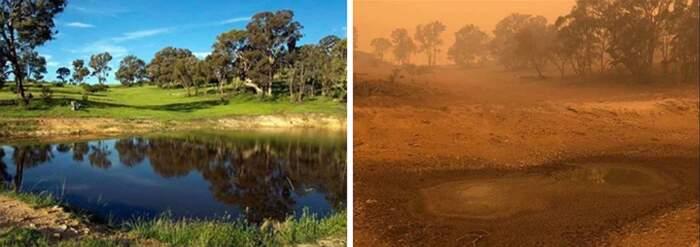 Foto prima e dopo gli incendi in Australia