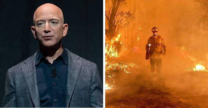 L'uomo più ricco del mondo Jeff Bezos dona $1.000.000 alle vittime degli incendi in Australia