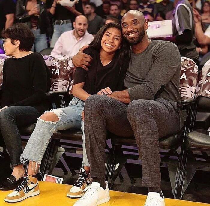 Kobe Bryant con sua figlia Gianna
