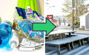 """Azienda raccoglie i rifiuti di plastica e la trasforma in """"legname"""" da costruzione"""