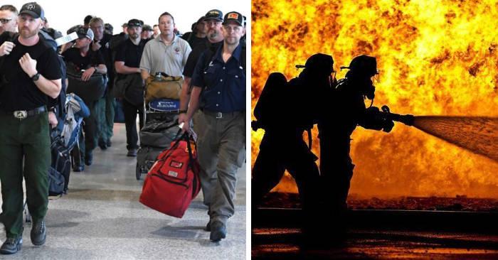 Arrivano i rinforzi: i pompieri americani atterrano in Australia tra l'applauso dei viaggiatori