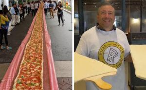 Ristorante italiano in Australia fa una pizza di 103 metri e dona il ricavato ai pompieri