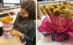 Molte persone regalano mazzi di polpette per San Valentino e stanno postando le foto