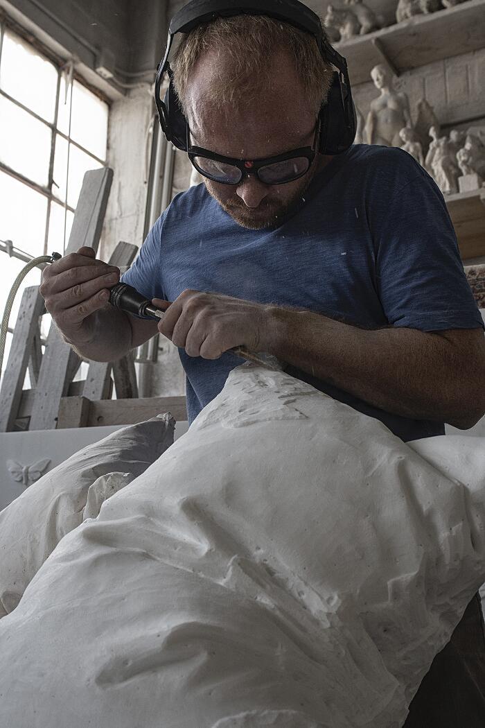 Sculture di marmo Håkon Anton Fagerås