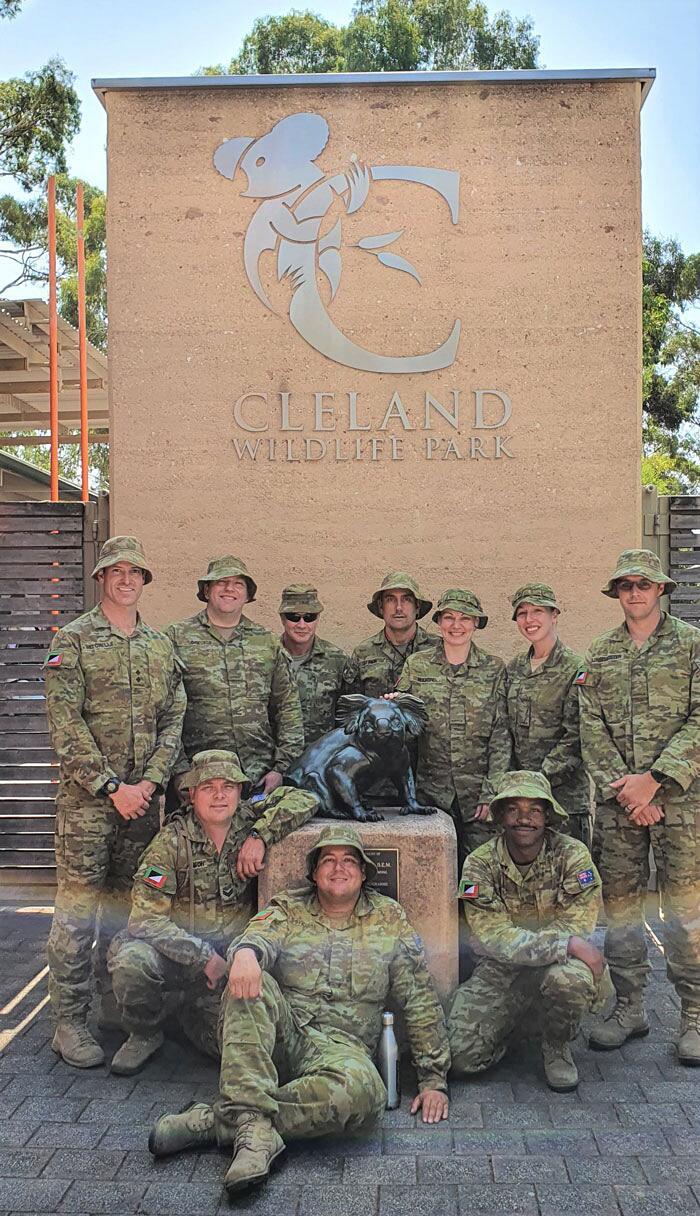 Soldati si prendono cura dei koala feriti incendi Australia