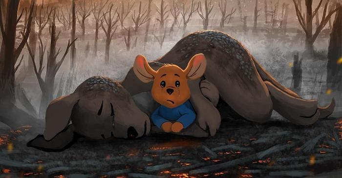 Artisti da tutto il mondo rendono un tributo agli animali morti negli incendi in Australia