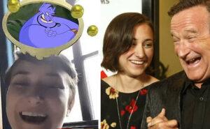 """La figlia di Robin Williams diventa il Genio doppiato dal padre nel filtro Instagram """"Quale personaggio Disney sei"""""""