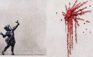 La nuova opera di Banksy per San Valentino è un'esplosione di poesia e romanticismo
