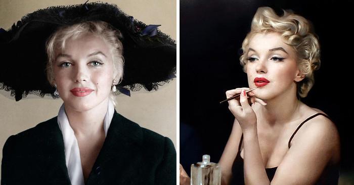 Foto in bianco e nero di Marilyn Monroe ritrovano il colore e sono incredibili