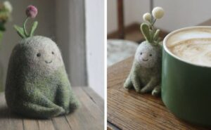 Artista riceve in regalo un pacco di lana e diventa una designer di giocattoli in feltro
