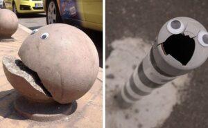 Qualcuno in Bulgaria mette gli occhi ad oggetti rotti in strada, ed è persino meglio che ripararli