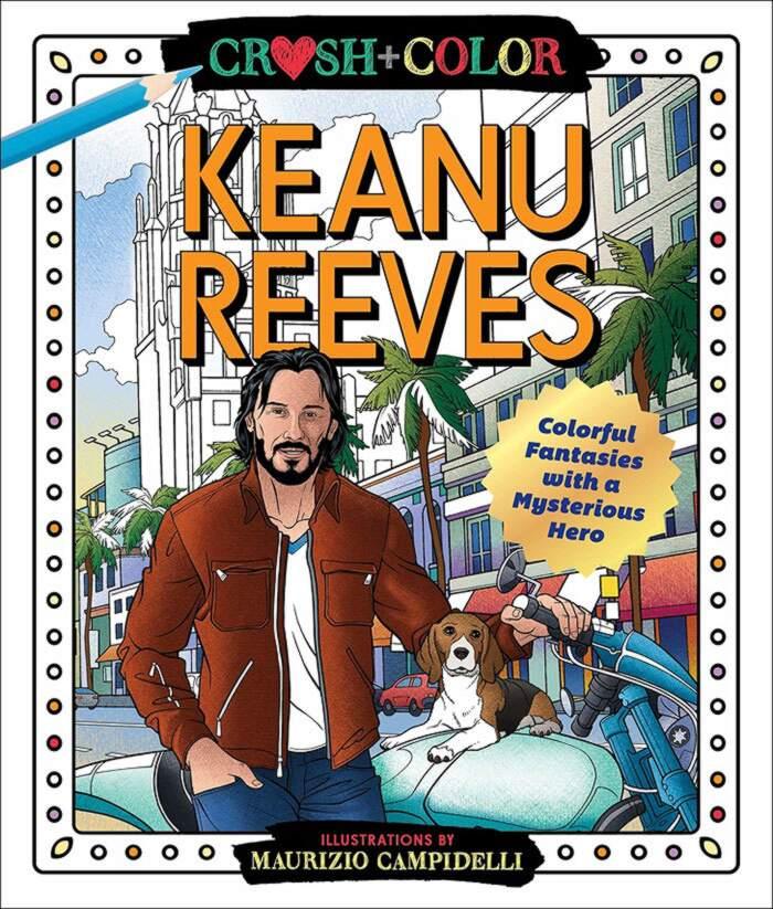 Libro da colorare Keanu Reeves