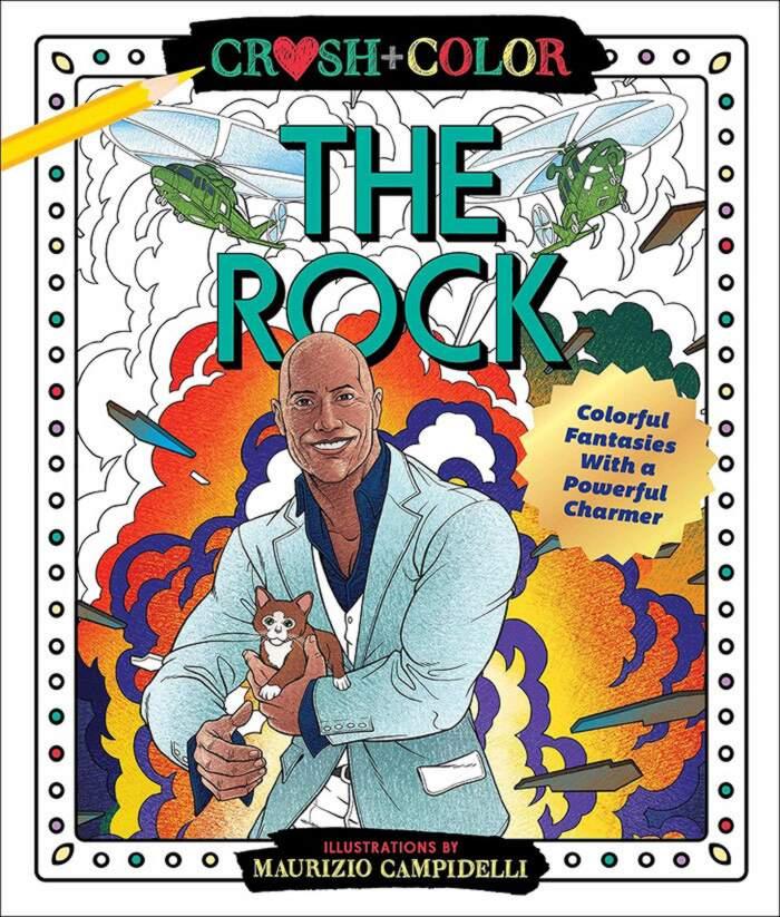 Libro da colorare The Rock